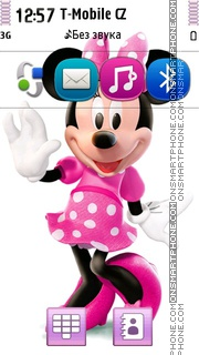 Minnie Mouse In Dress theme screenshot