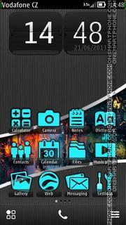 Dark Rain Pro v5. es el tema de pantalla