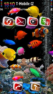 Aquarium HD v2 theme screenshot
