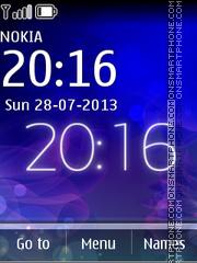 Neon Serenity theme screenshot