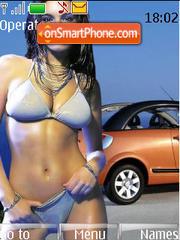 Girl And Car 06 theme screenshot