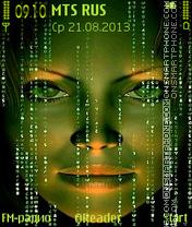 Matrix-Evo es el tema de pantalla