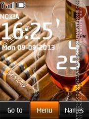 Cognac and Cigars Digital Clock es el tema de pantalla