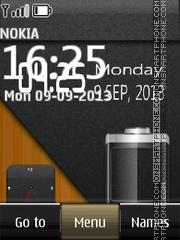 Battery Dual Clock 01 theme screenshot