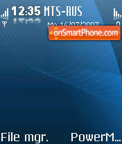 Glossy Blue theme screenshot