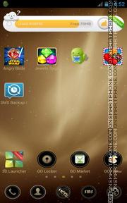 Capture d'écran Gold 2016 thème