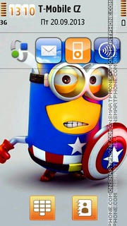 Captain Minion theme screenshot