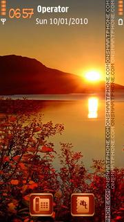 Autumn Sunset es el tema de pantalla