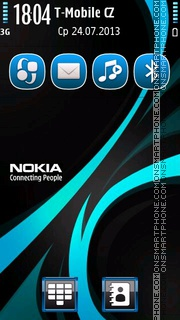 Rays Nokia theme screenshot
