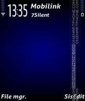 Elegant blue es el tema de pantalla
