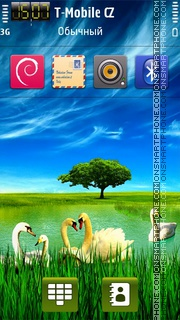 Swan Lake HD theme screenshot