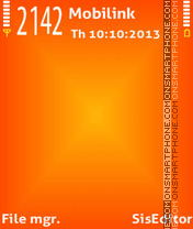 Orange x theme screenshot