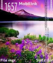 Purple nature theme screenshot