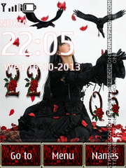 Gothic filosofie theme screenshot