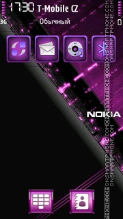 Nokia Violet 01 theme screenshot