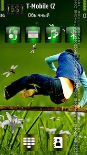 Jumping Man es el tema de pantalla
