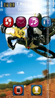 Motocross HD es el tema de pantalla