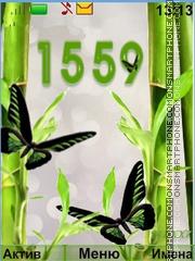Bamboo and butterflies theme screenshot