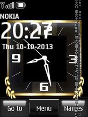 Nokia Gold Dual Clock es el tema de pantalla