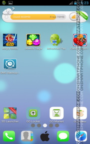iOS 7 iPhone for Android theme screenshot