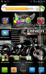 Harley Davidson Moto tema screenshot
