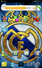 Real Madrid 2037 theme screenshot