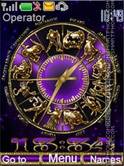 Zodiac clock es el tema de pantalla