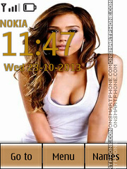 Jessica Alba 44 theme screenshot