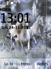 Three White Horses theme screenshot
