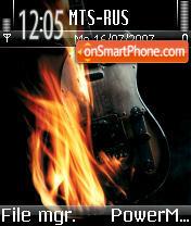 Fender Flames theme screenshot