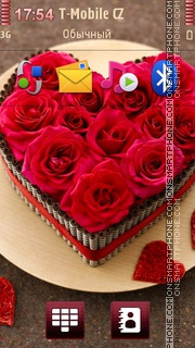 Red Roses Heart theme screenshot