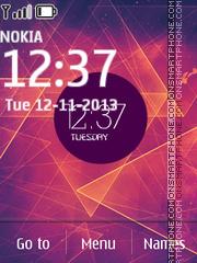 Ultraminimal Clock theme screenshot