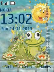 Animated Frog es el tema de pantalla