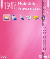 Pink candy theme screenshot