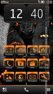 Black Python theme screenshot