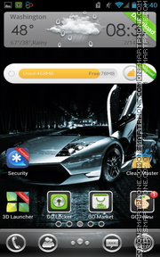 High-Speed Lamborghini tema screenshot
