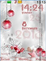 Winter Clock theme screenshot