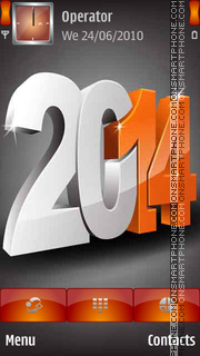 3D Happy New Year 2014 tema screenshot