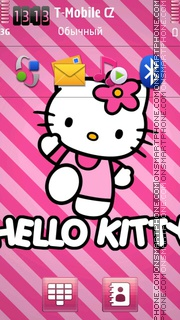 Hello Kitty 49 theme screenshot