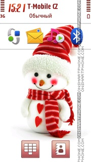 Christmas Snowman 01 tema screenshot
