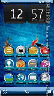 Tropical Blue theme screenshot