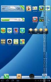 Capture d'écran Blue iPhone 4 thème