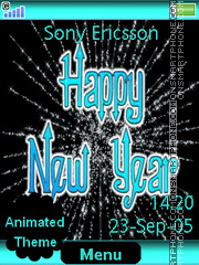Happy New Year es el tema de pantalla