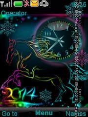 Year of a horse es el tema de pantalla