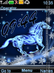 Snow horse es el tema de pantalla