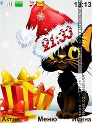 Christmas kitten es el tema de pantalla