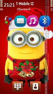 Christmas Minion theme screenshot