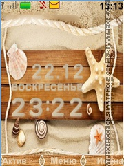 Seashells and sand theme screenshot