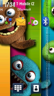 Monsters Shelf es el tema de pantalla