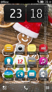 Christmas Ginger Bread tema screenshot